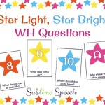 Star Light, Star Bright WH Questions – And introducing Speechie Freebies Collaborative Blog!