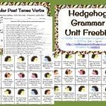 Freebie: Hedgehog Grammar Unit