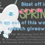 Blast off into SPRING Giveaway!