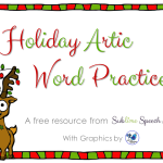 Holiday Artic Word Practice Freebie!