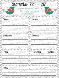 Weekly Calendars with quotes