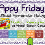 Appy Friday: Auditory Memory Ride by VSC
