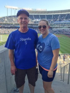 My dad and I at Jeter's last game in KC this summer.