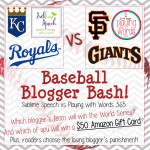 Baseball Blogger Bash! {Sublime Speech vs. Playing with Words 365}