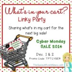What's in Your Cart?!? {Linky Party}