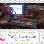 What's in Your Early Intervention Therapy Bag {Linky}